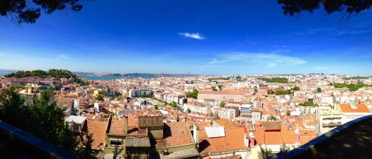 View of Lisbon looking west.