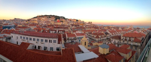 View from Hotel do Chiado Sky Bar looking east.