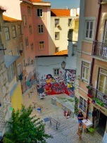 Lisbon Murals and narrow streets