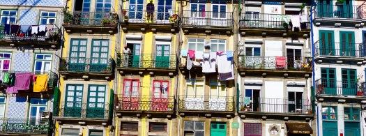 Porto narrow buildings